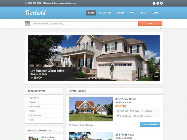 Freehold-real-estate-theme