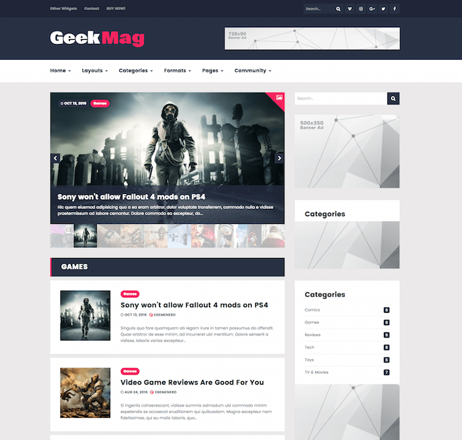 GeekMag WordPress Theme