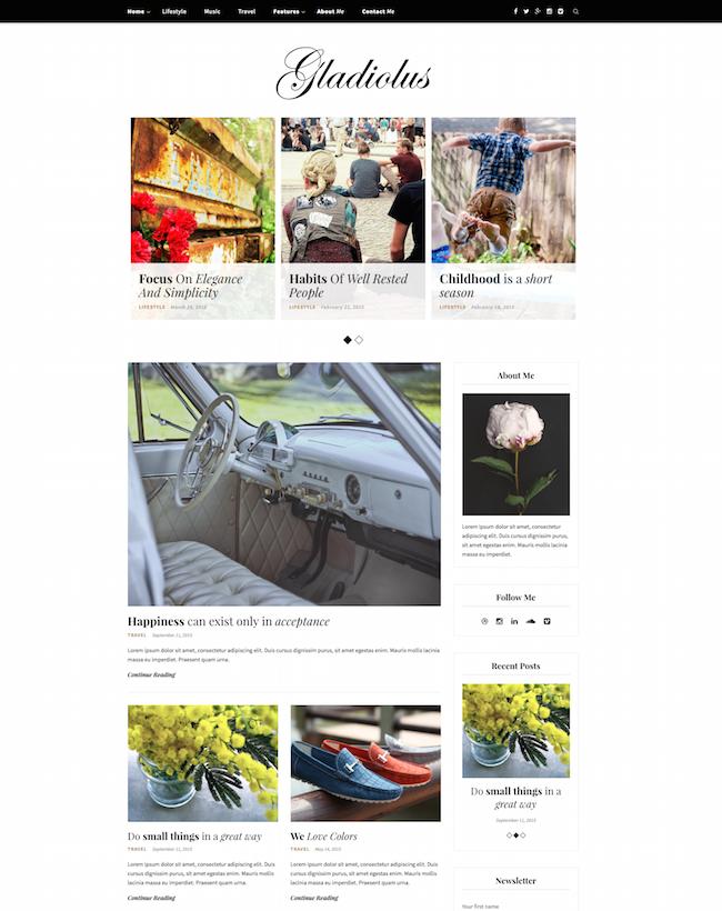 Gladiolus WordPress Theme