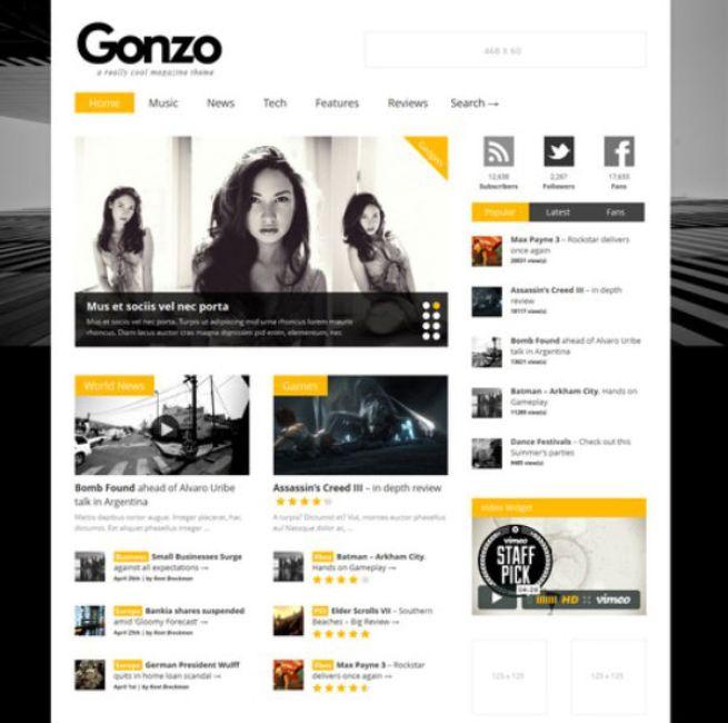Gonzo Review WordPress Theme
