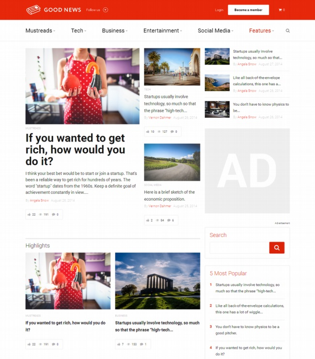 Good News WordPress Theme