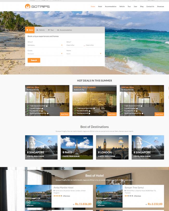Gotrips WordPress Theme