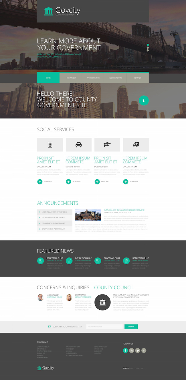 government-responsive-website-template
