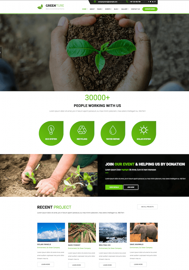 Greenture Theme