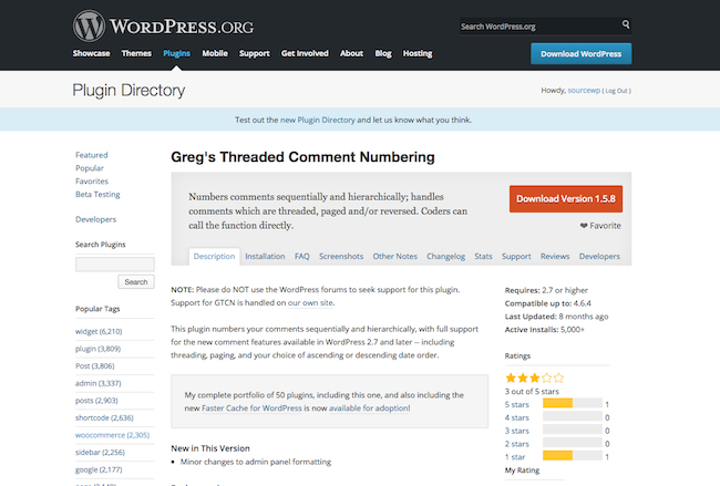 Greg's Threaded Comment Numbering