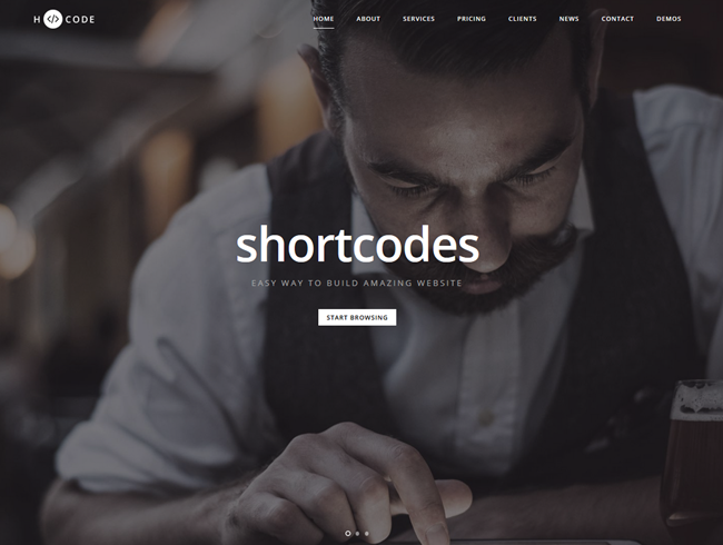 H Code wordpress theme