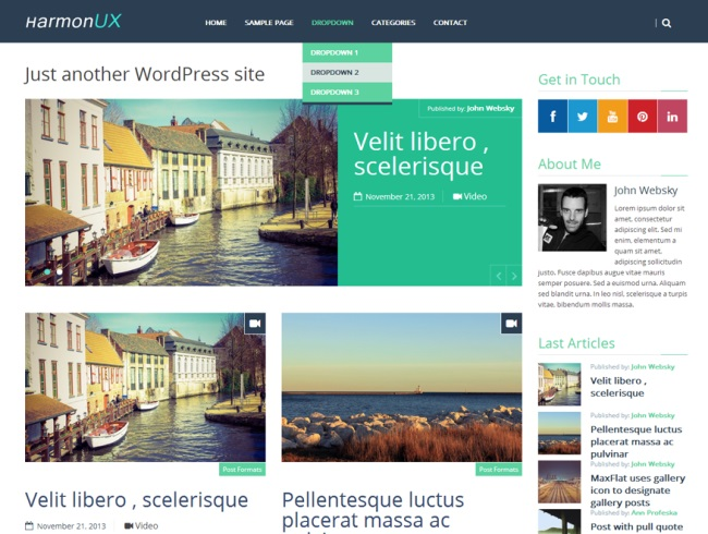 HarmonUX Core WordPress Theme