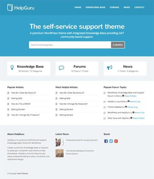 helpguru wordpress forum knowledge base forum search demo