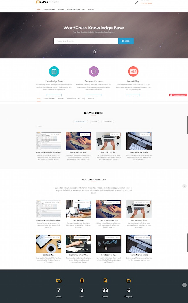 Helper WordPress Theme