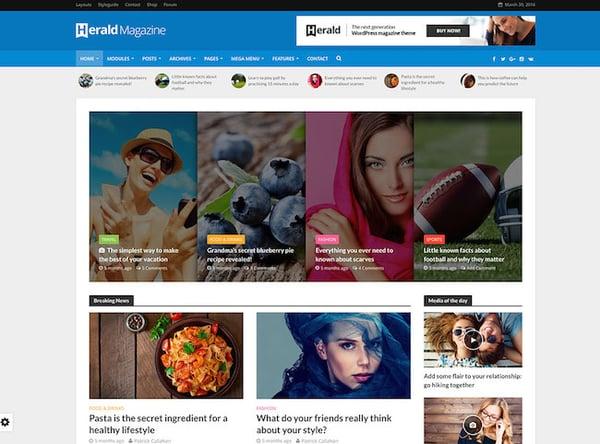 Herald - News Portal & Magazine WordPress Theme