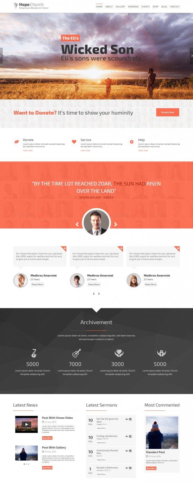 Hope WordPress Theme