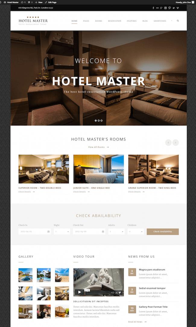 Hotel Master Hotel Theme