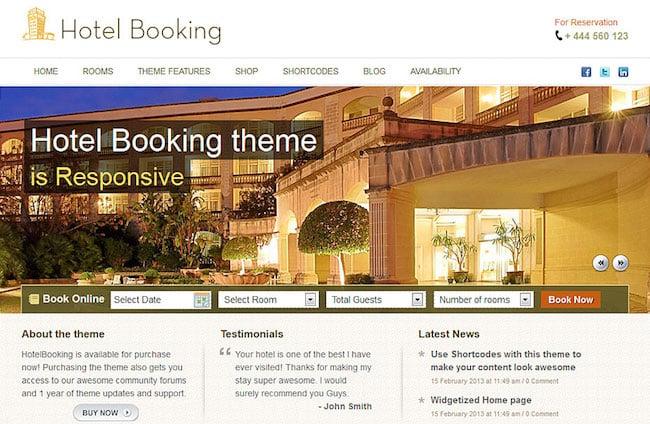 HotelBooking Templatic