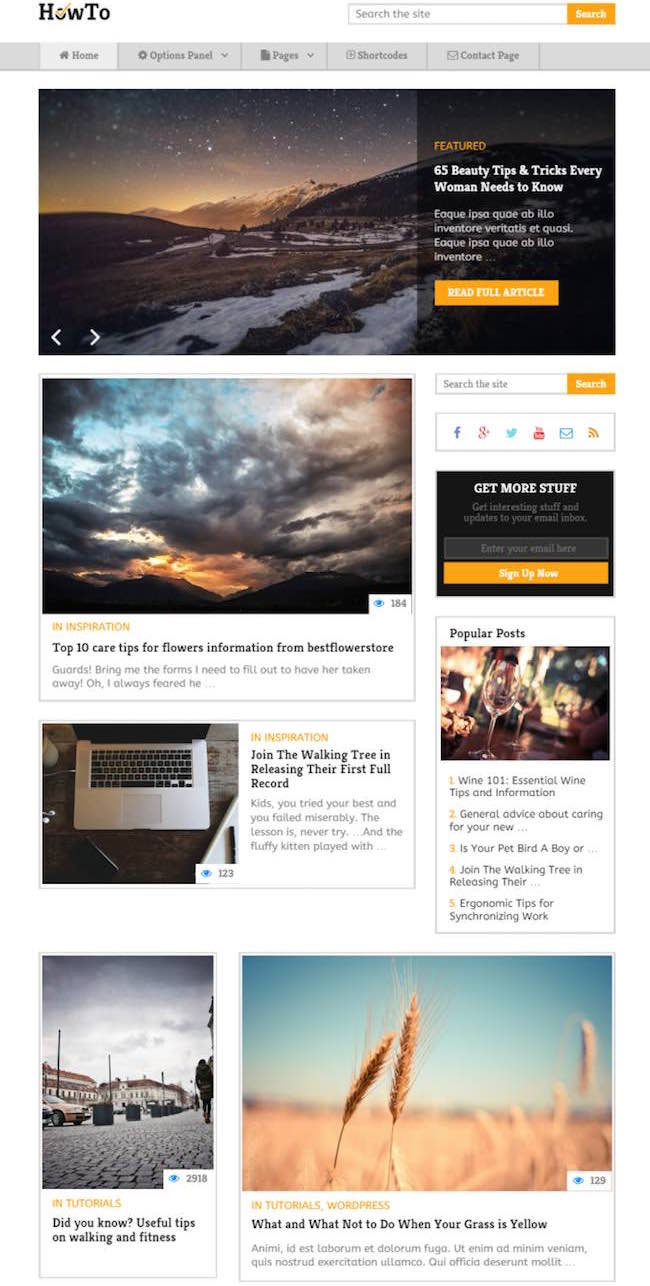 Howto WordPress Theme