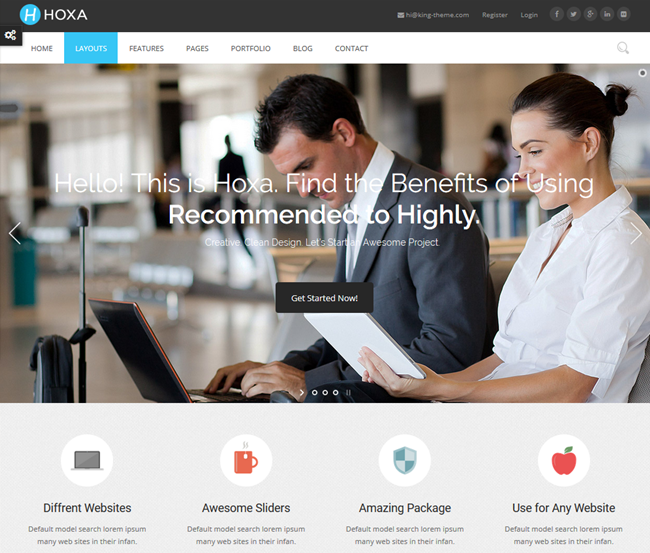 hoxa wordpress business consulting theme