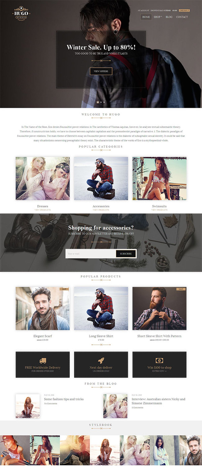 Hugo-WordPress-Theme