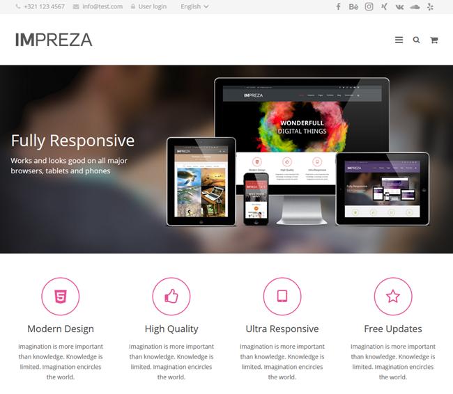 impreza wordpress theme