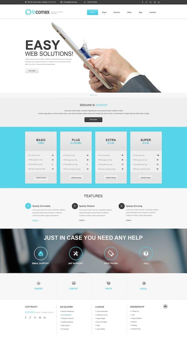 Incomex WordPress Theme