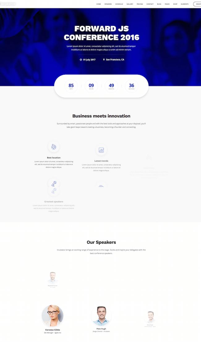 Incubator WordPress Theme