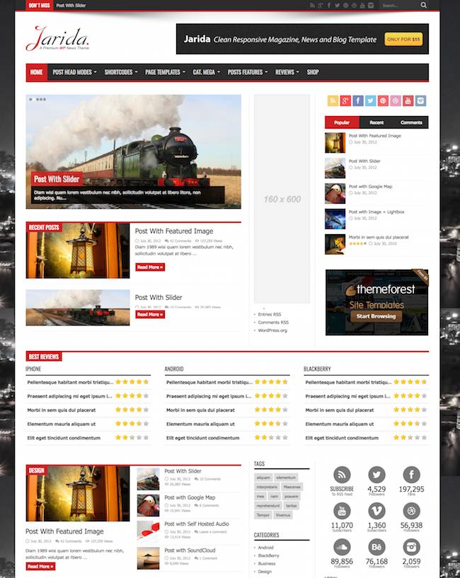 Jarida Responsive WordPress Theme