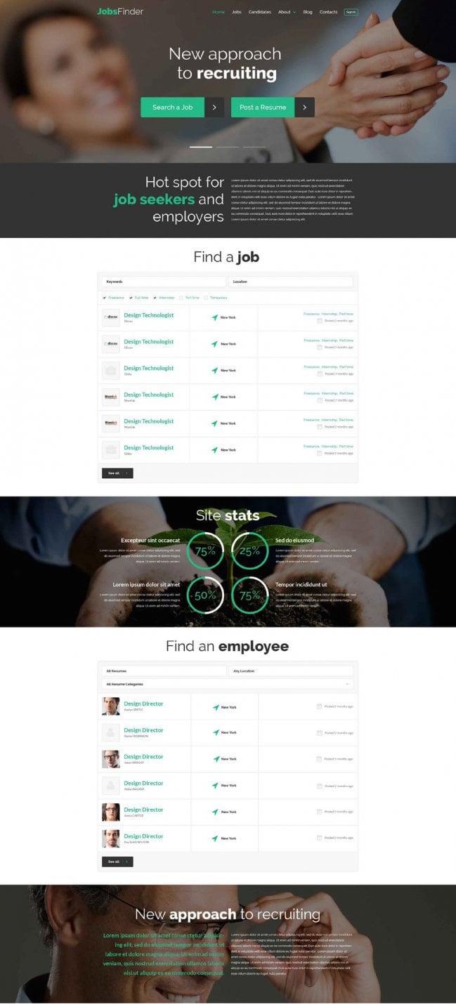 Jobs Finder WordPress theme