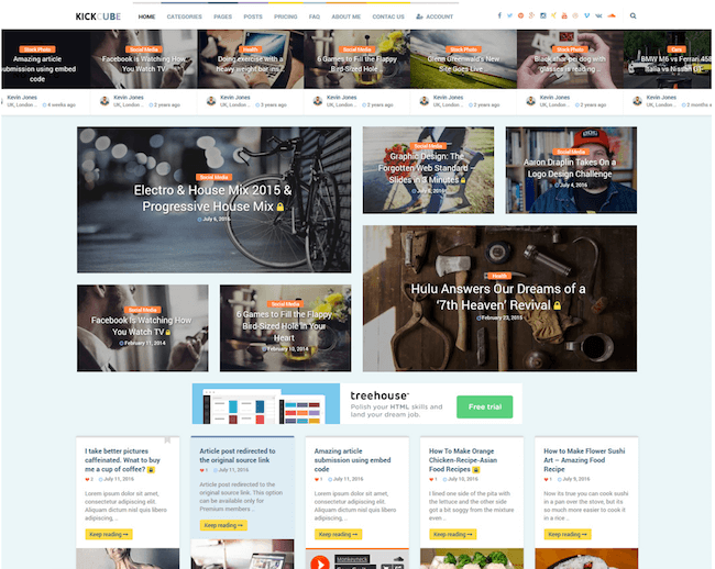 KICKCUBE WordPress Theme