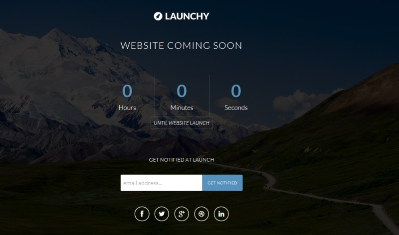 Launchy Coming Soon Page
