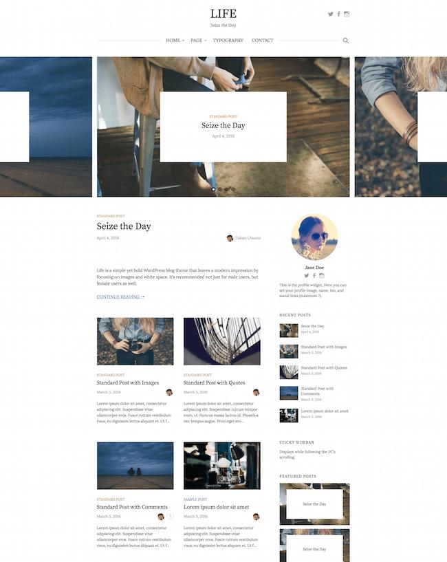 Life Simple WordPress Blog Theme
