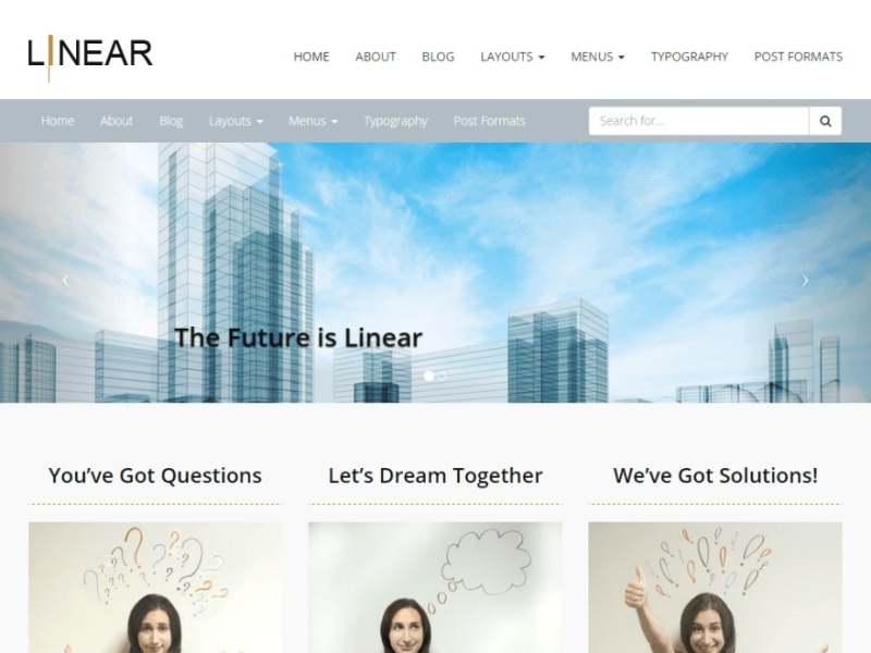 Linear Bootstrap Theme