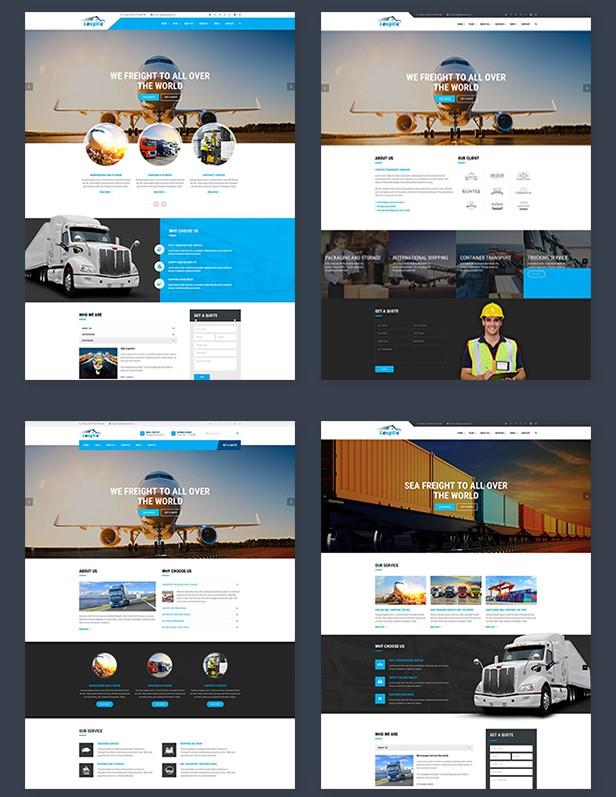 logistics wp theme, transport wp theme