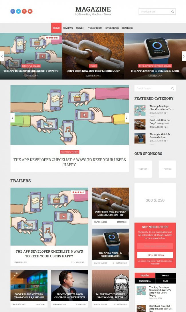 Magazine MyThemeShop Theme