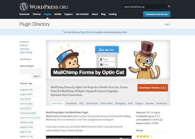 MailChimp Forms by Optin Cat