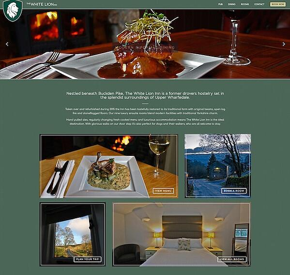 Masons Bar and Bistro website built with Divi theme