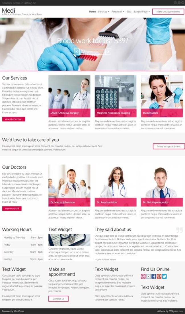 Medi-Medical-Business-WordPress-Theme