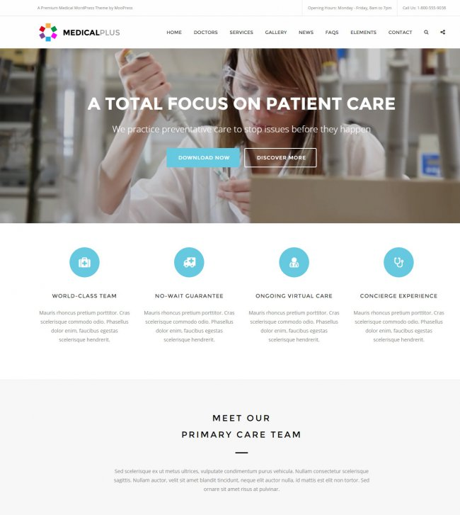 MedicalPlus Health and Medical WordPress Theme