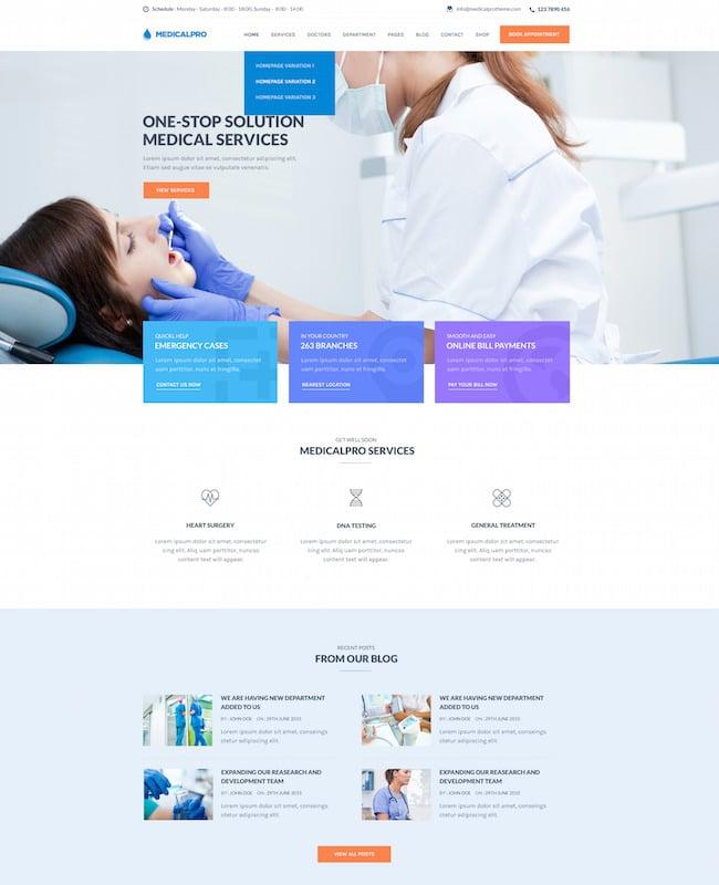 MedicalPro WordPress Theme