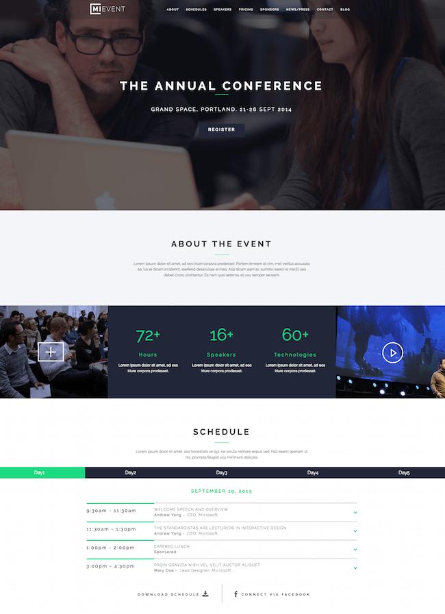 MiEvent WordPress Theme