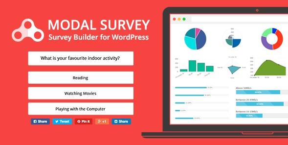 Modal Survey WordPress Plugin banner and example