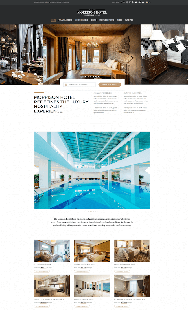 Morrison Hotel WordPress Theme