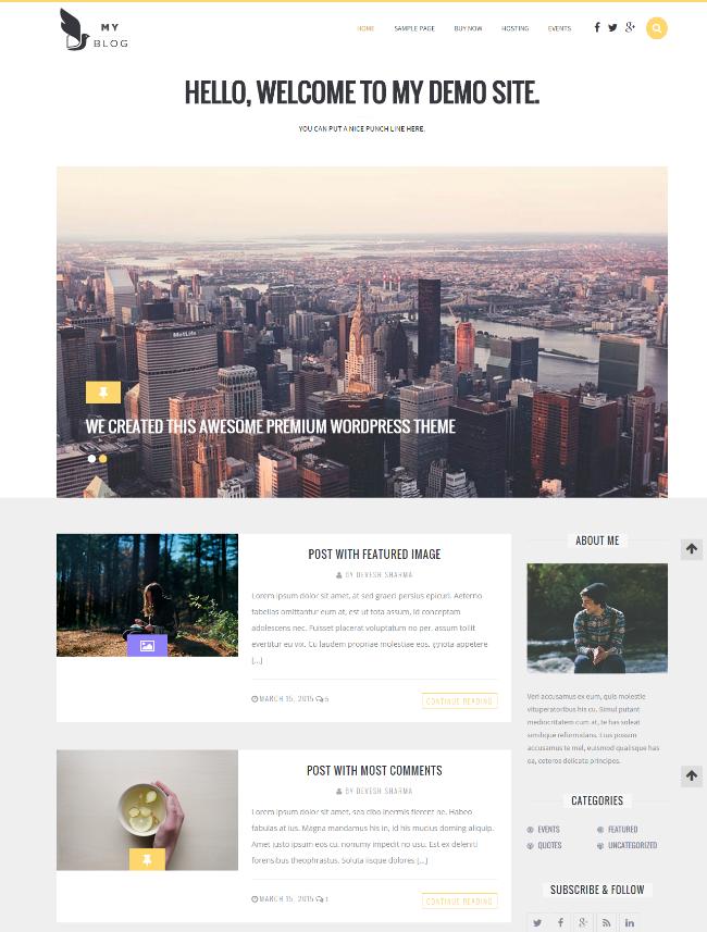 MyBlog Responsive Blog Magazine Theme