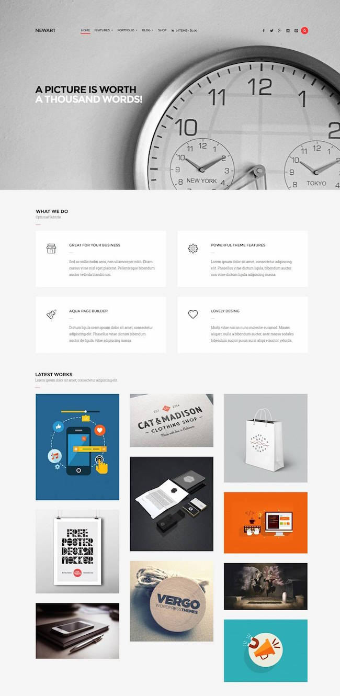 NewArt wordPress theme