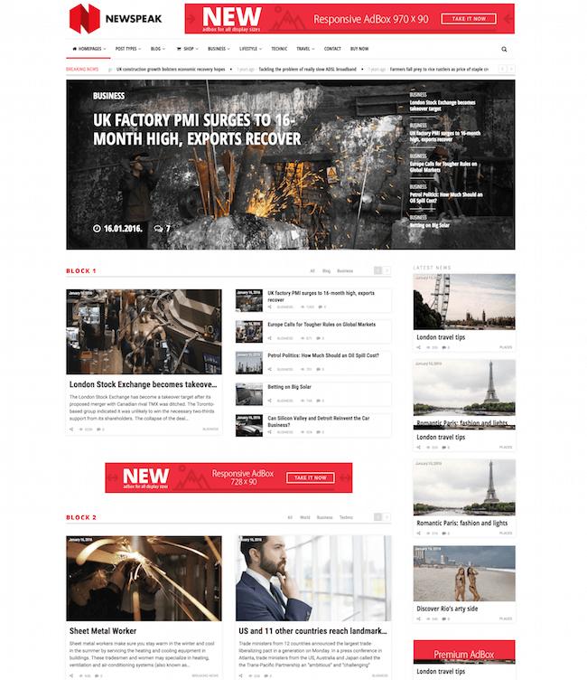 Newspeak WordPress Theme