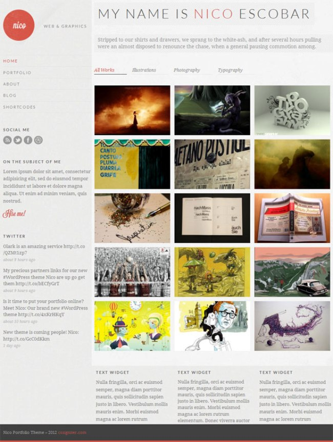 Nico-Portfolio-WordPress-Theme