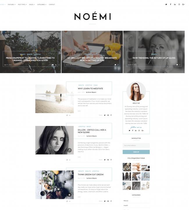 Noemi WordPress Theme
