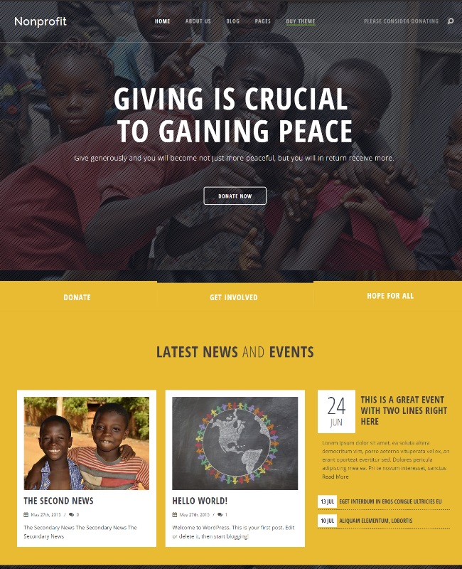Nonprofit NGO and Charity WordPress Theme