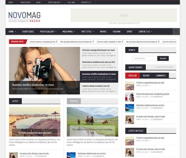 Novomag WordPress Theme
