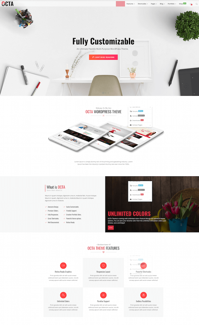 OCTA Multipurpose WordPress Theme