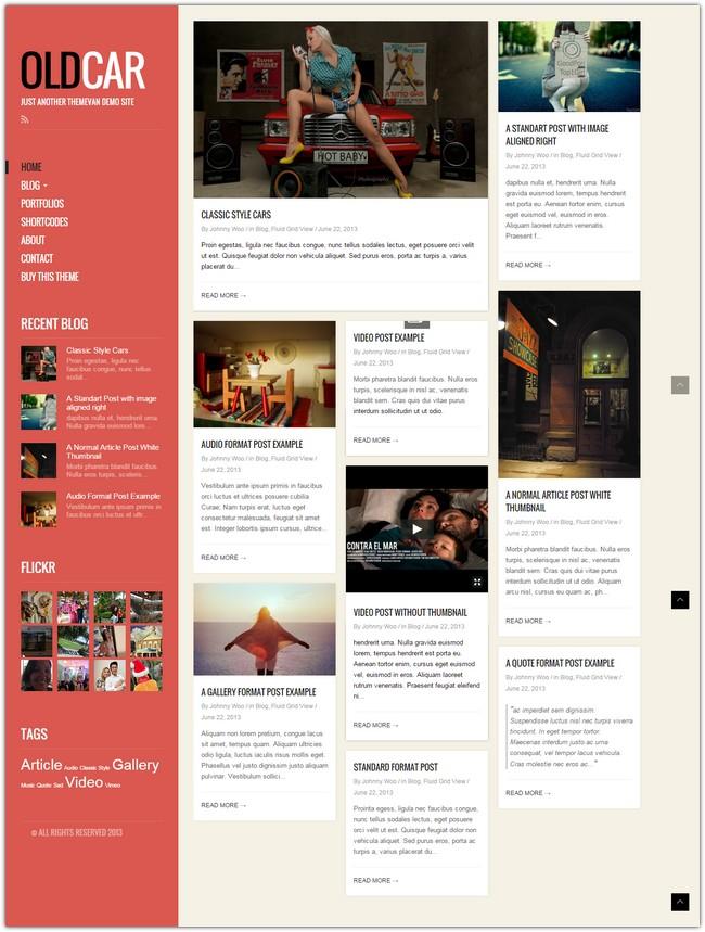 OldCar-Responsive-Blog-Grid-WordPress-Theme
