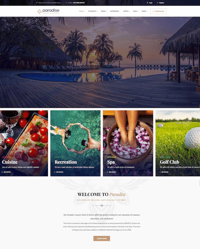 Paradise Wordpress Theme