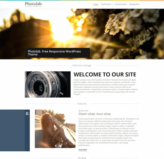 Photo Lab Responsive WordPress Template